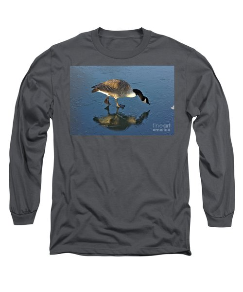 Goose On Ice Long Sleeve T-Shirt