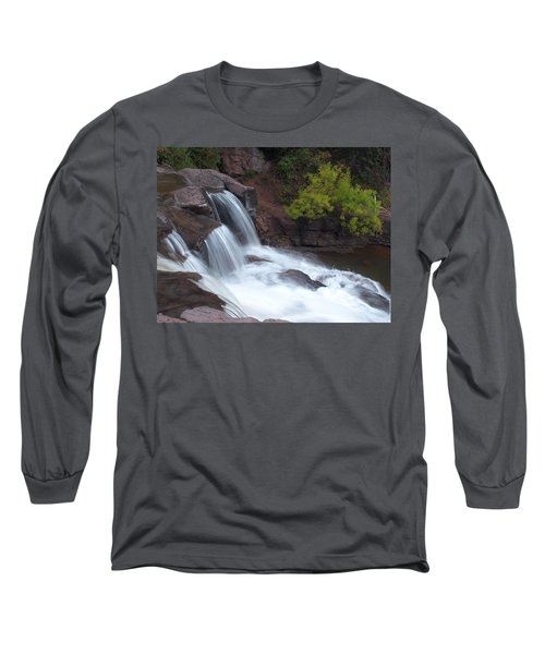 Long Sleeve T-Shirt featuring the photograph Gooseberry Falls In Slow Motion by James Peterson