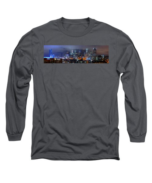 Gotham City - Los Angeles Skyline Downtown At Night Long Sleeve T-Shirt