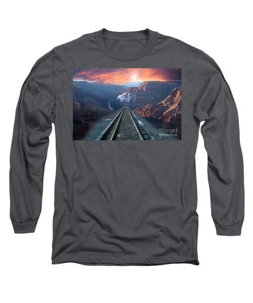 Long Sleeve T-Shirt featuring the photograph Grand Canyon Collage by Gunter Nezhoda