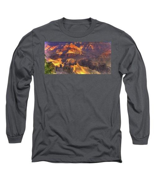 Grand Canyon - Sunrise Adagio - 1b Long Sleeve T-Shirt by Michael Mazaika