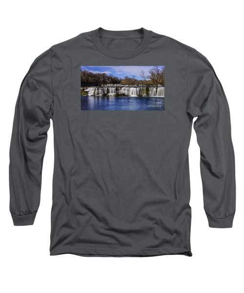 Grand Falls In Joplin Missouri Long Sleeve T-Shirt by Jennifer White