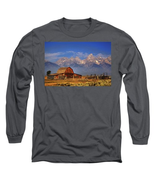 Grand Tetons From Moulton Barn Long Sleeve T-Shirt