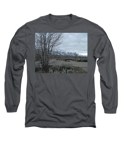 Grand Tetons Landscape Long Sleeve T-Shirt