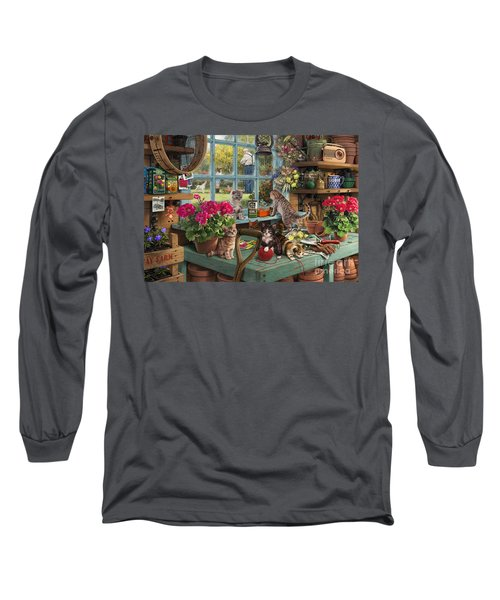Grandpa's Potting Shed Long Sleeve T-Shirt by Steve Read