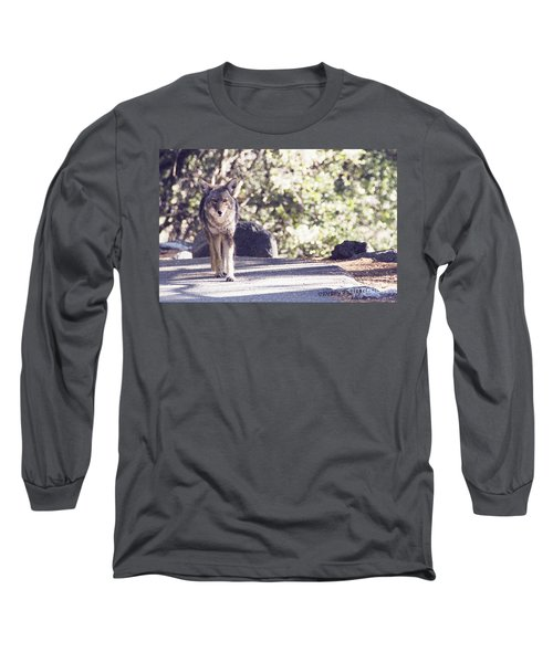 Coyote And Me At Vernal Falls Long Sleeve T-Shirt by Debby Pueschel