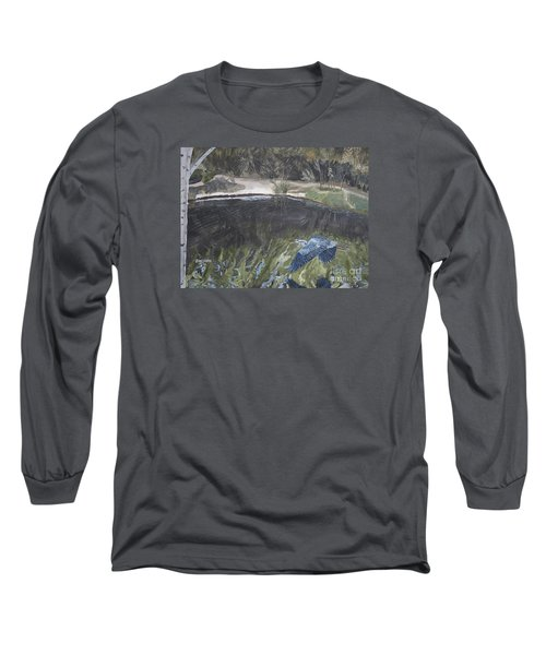 Great Blue Heron In Flight Long Sleeve T-Shirt