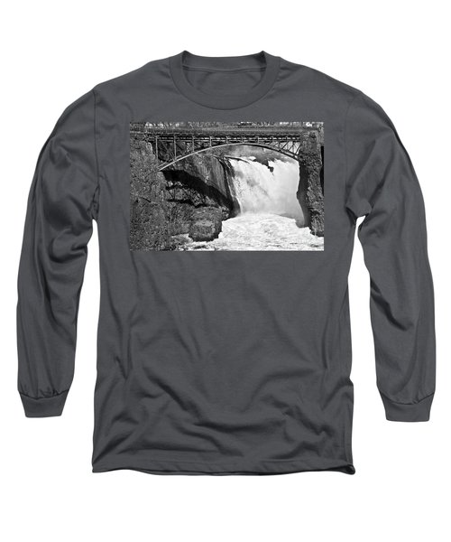 Great Falls In Paterson Nj Long Sleeve T-Shirt by Anthony Sacco