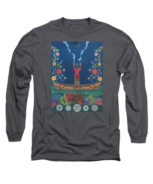 Long Sleeve T-Shirt featuring the painting Great Teacher - Sedwa'gowa'ne by Chholing Taha