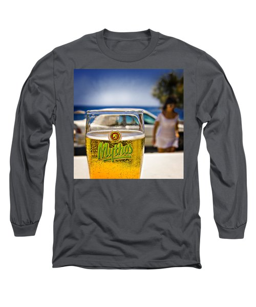 Greek Beer Goggles Long Sleeve T-Shirt by Meirion Matthias