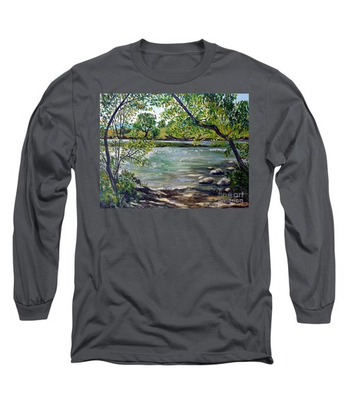 Green Hill Park On The Roanoke River Long Sleeve T-Shirt