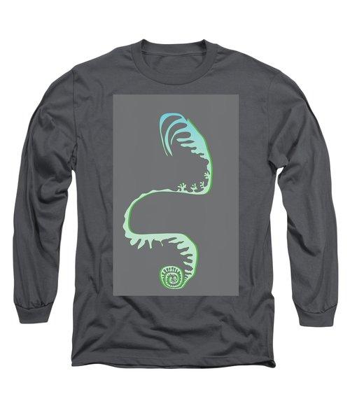 Green Spiral Evolution Long Sleeve T-Shirt