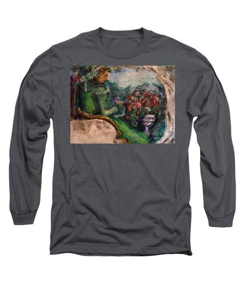 Green Tea In The Garden Long Sleeve T-Shirt