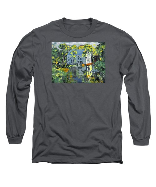 Long Sleeve T-Shirt featuring the painting Green Township Mill House by Michael Daniels