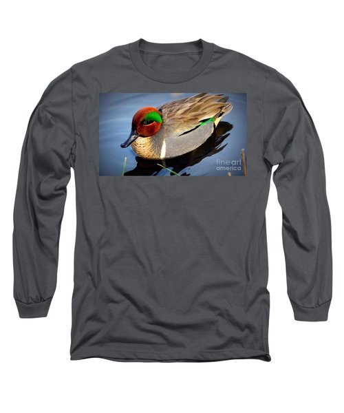 Green Winged Teal  Duck  Long Sleeve T-Shirt