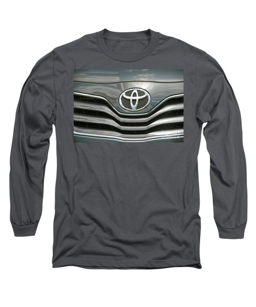 Grey Toyota Grill And Emblem Smile Long Sleeve T-Shirt