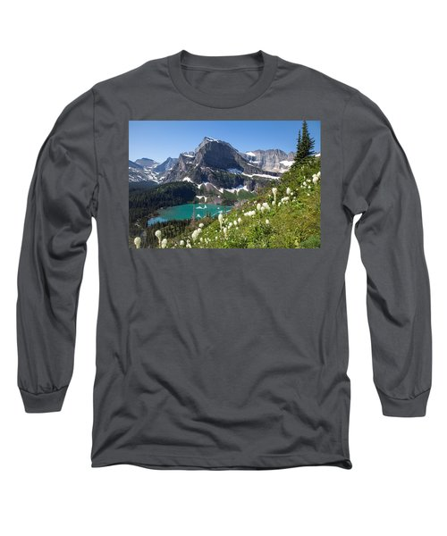 Grinnell Lake With Beargrass Long Sleeve T-Shirt by Jack Bell
