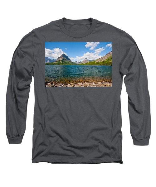 Grinnell Point From Swiftcurrent Lake Long Sleeve T-Shirt