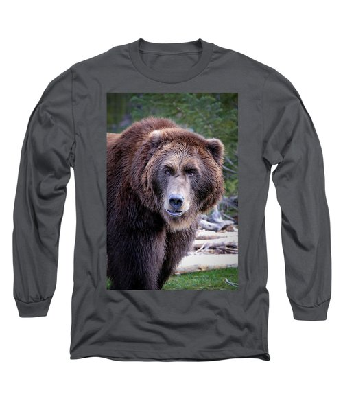Grizzly Long Sleeve T-Shirt by Athena Mckinzie
