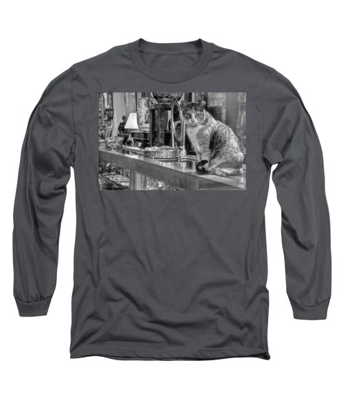 Guard Cat Long Sleeve T-Shirt by Ron White