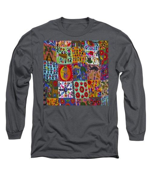 Guatemala Folk Art Quilt Long Sleeve T-Shirt