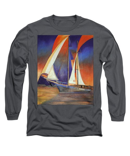 Gulet Under Sail Long Sleeve T-Shirt