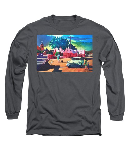 Guys Dolls And Pink Adobe Long Sleeve T-Shirt by Art James West