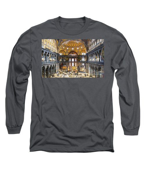 Hagia Sofia Interior 35 Long Sleeve T-Shirt by Antony McAulay