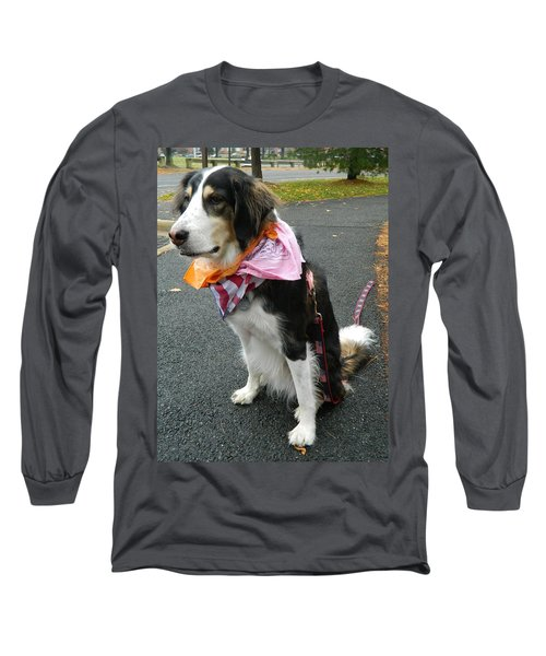 Long Sleeve T-Shirt featuring the photograph Haley The Wonder Dog by Emmy Marie Vickers