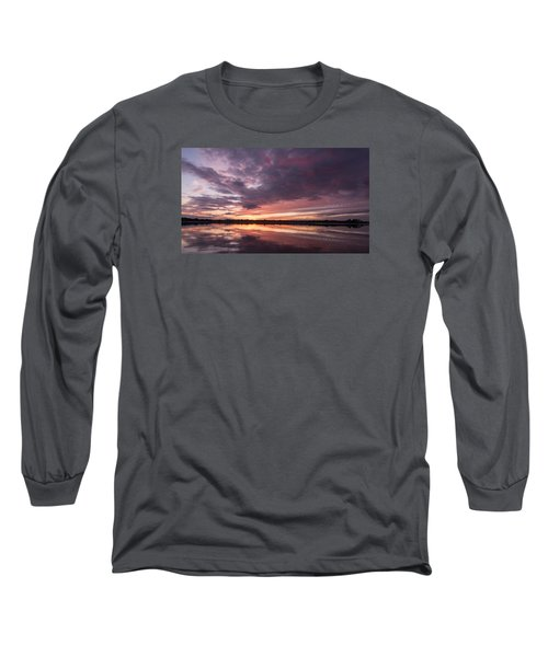 Halifax River Sunset Long Sleeve T-Shirt by Paul Rebmann