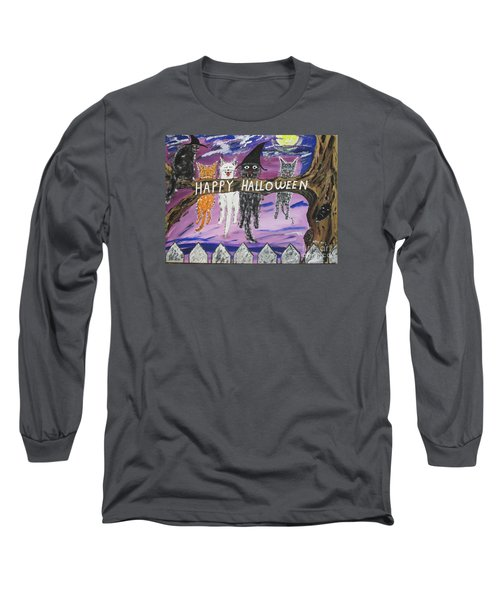Halloween Scaredy Cats Long Sleeve T-Shirt