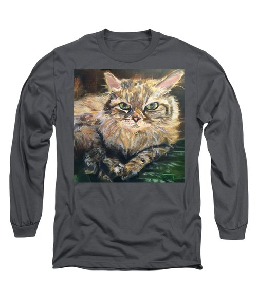 Long Sleeve T-Shirt featuring the painting Handsome Toby by Belinda Low
