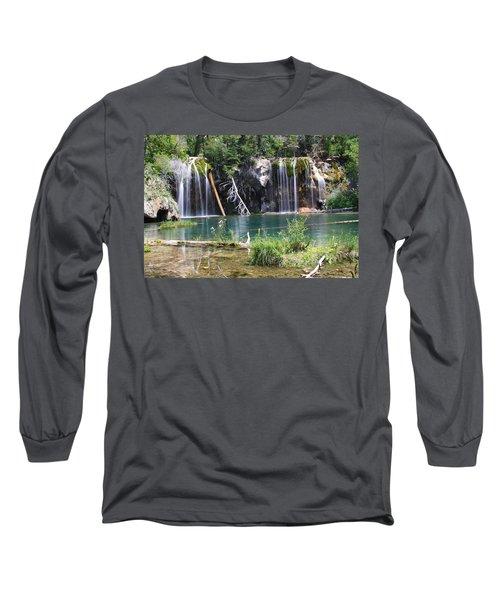 Hanging Lake Long Sleeve T-Shirt by Eric Glaser