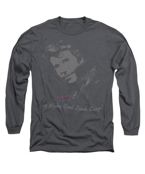 Happy Days - Cool Fonz Long Sleeve T-Shirt