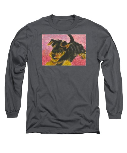 Happy Long Sleeve T-Shirt by Jeanne Fischer