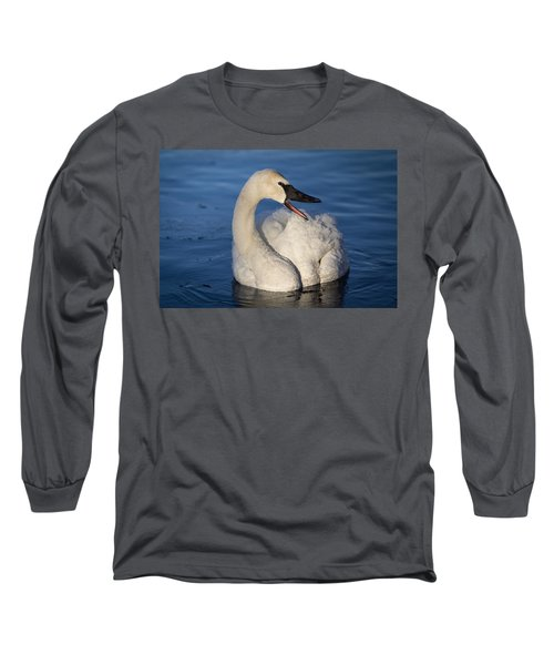 Happy Swan Long Sleeve T-Shirt by Patti Deters