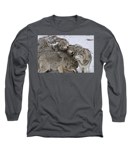 Happy Wolf Pack Long Sleeve T-Shirt