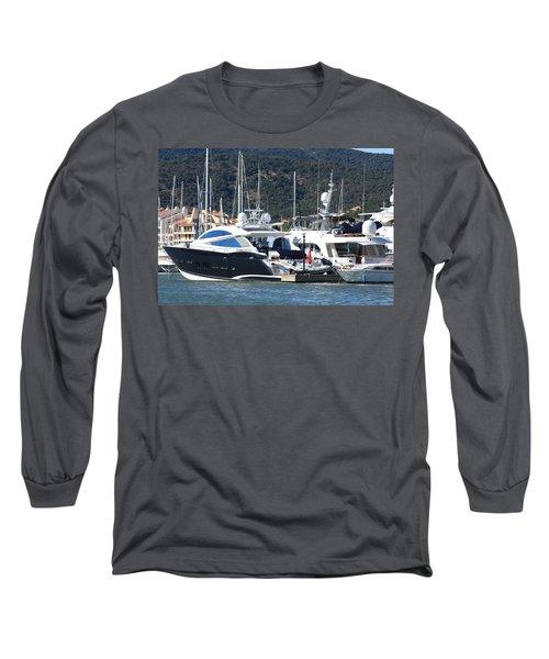 Harbour Docking Scene Long Sleeve T-Shirt
