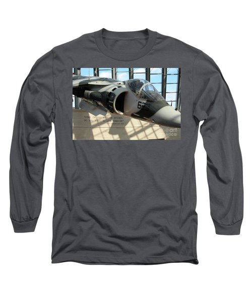 Harrier And Quote At The Marine Corps Museum Long Sleeve T-Shirt