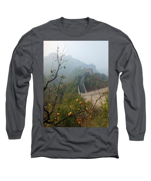 Long Sleeve T-Shirt featuring the photograph Harvest Time At The Great Wall Of China by Lucinda Walter