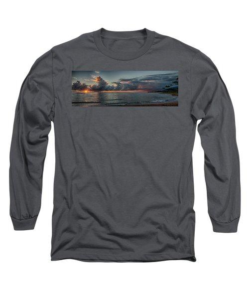 Hauula Sunrise Panorama Long Sleeve T-Shirt