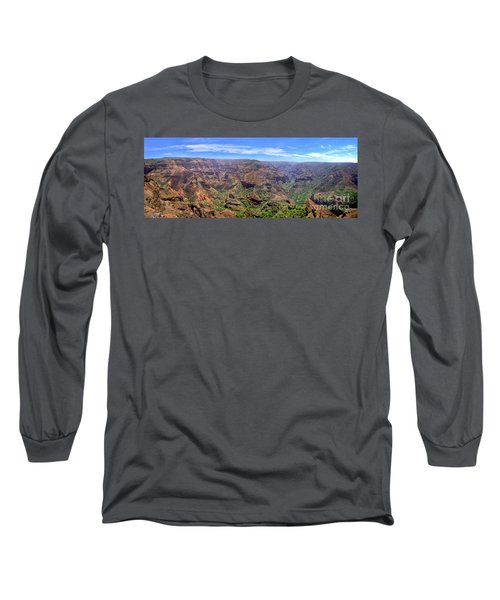 Hawaii Kauai Waimea Canyon Beautiful Panorama Long Sleeve T-Shirt