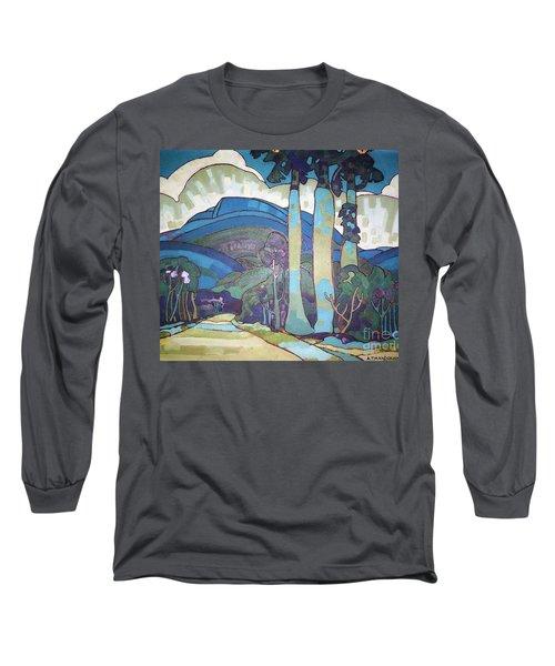 Hawaiian Landscape Long Sleeve T-Shirt by Pg Reproductions