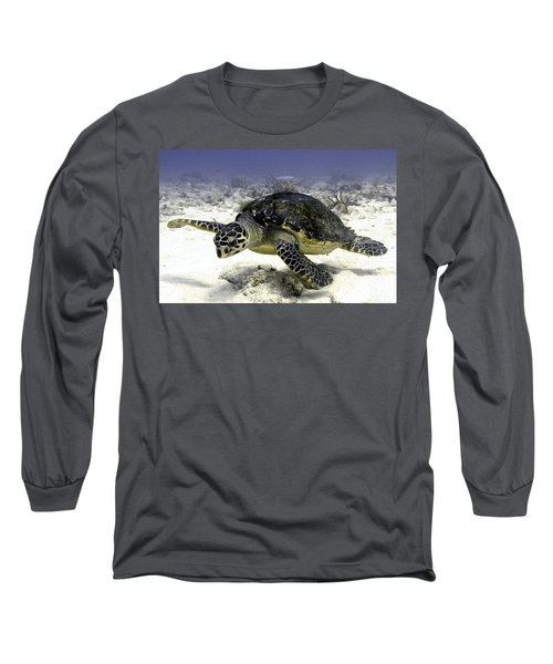 Hawksbill Caribbean Sea Turtle Long Sleeve T-Shirt