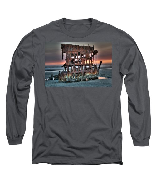 Hdr Peter Iredale Long Sleeve T-Shirt by James Hammond