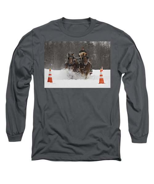 Heading To The Finish Long Sleeve T-Shirt by Carol Lynn Coronios