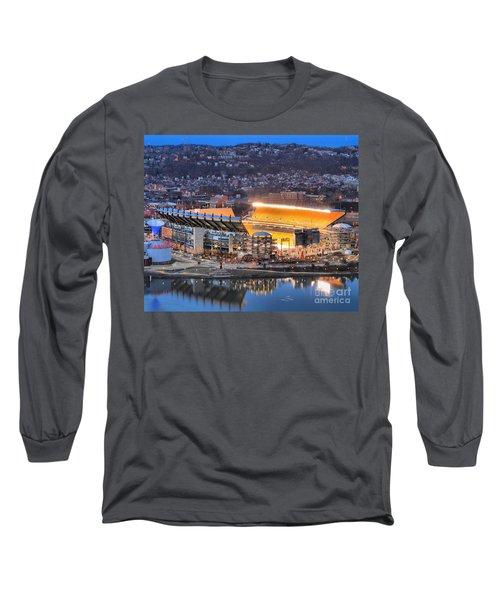 Heinz Field At Night Long Sleeve T-Shirt