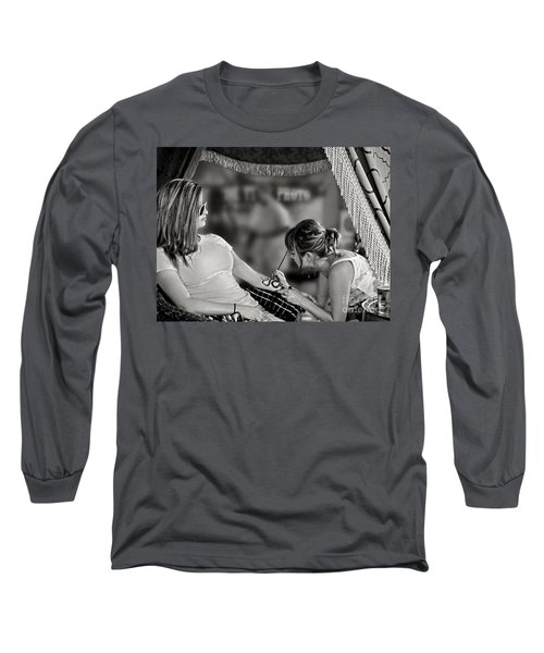 Long Sleeve T-Shirt featuring the photograph Henna At The Fair by Jennie Breeze