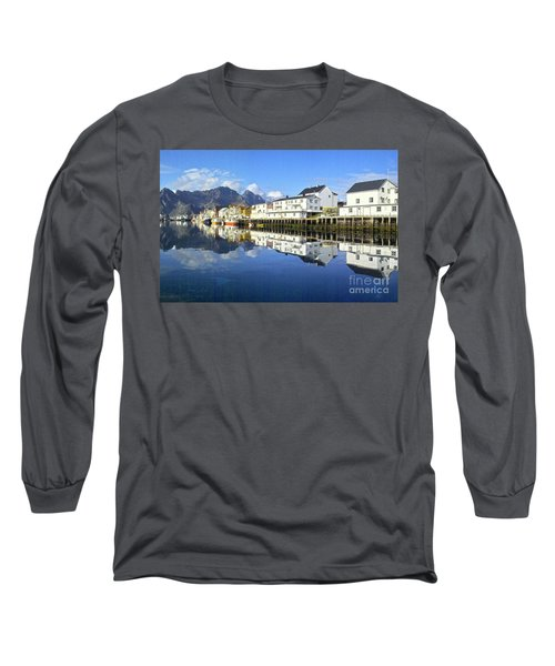 Henningsvaer Harbour Long Sleeve T-Shirt