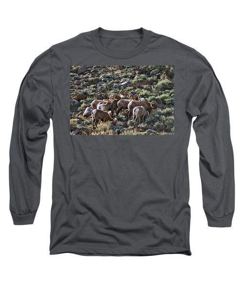 Herd Of Horns Long Sleeve T-Shirt by Jeremy Rhoades